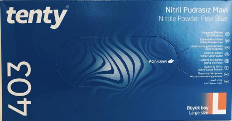 Nitrilhandskar blå large