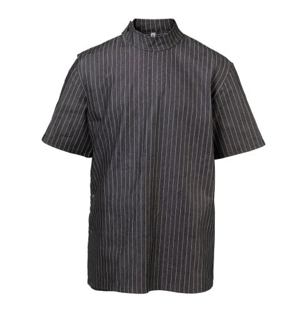 Black pinstriped barber jacket