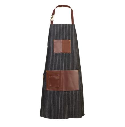 Pinstripe apron black