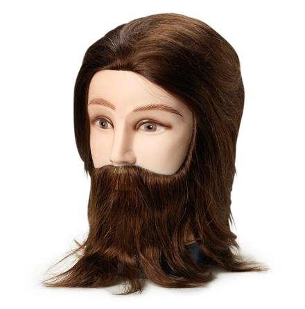 Dockhuvud med skägg